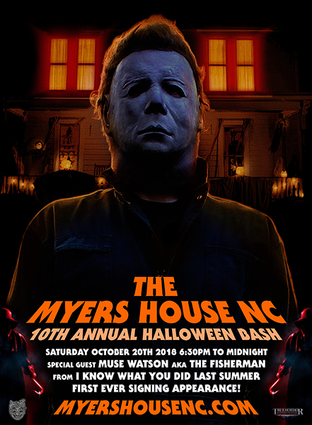 The Myers House Nc Halloween Bash Info Poster By Truehorrornet